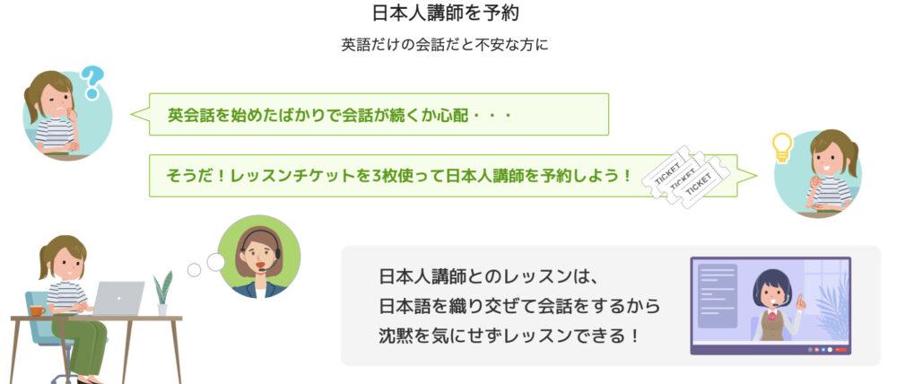 レアジョブ英会話:日本人講師の料金はレッスンチケット3枚分